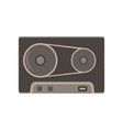 Tape cassette vintage icon retro audio art icon vector image