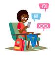 teen girl happy girl communicate on vector image vector image