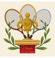 Tennis trophy vector image vector image