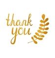 Thank you golden inscription vector image
