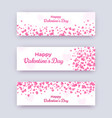 valentine day banner set white love coupons with vector image