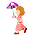 young girl with an umbrella vector image vector image