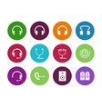 Headphones circle icons on white background vector image