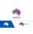 set of australia logo combination oceania and vector image