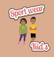 african children in sport wear style vector image