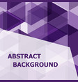 abstract purple hexagon template background vector image vector image