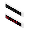 applause warning board message vector image vector image
