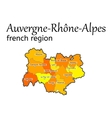 Auvergne-Rhone-Alpes french region map vector image vector image