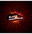 Black friday sale banner with explode on