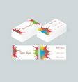 business card template 3 vector image vector image