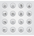 Button Design Business Icons Set vector image