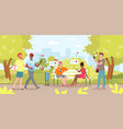 cartoon flat young woman man friend characters vector image vector image