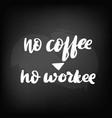 chalkboard blackboard lettering no coffee vector image
