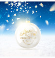 christmas ball with confetti vector image vector image