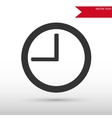 Clock icon Flat design style vector image vector image