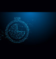 clock icon from lines triangles and particle vector image vector image