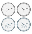 clock icon set outline isolated vector image vector image