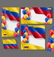 colombian patriotic festive posters set vector image vector image
