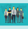 company team business group people of office vector image vector image