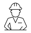 construction worker in helmet thin line icon vector image vector image
