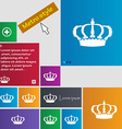 Crown icon sign buttons Modern interface website vector image vector image