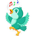 cute bird singing vector image