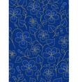 Dark blue floral pattern vector image vector image