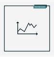 diagramma icon simple vector image vector image