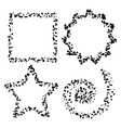 dot shapes vector image