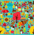 fall seasonal seamless pattern vector image vector image