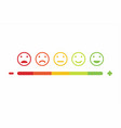 feedback emoticon smile flat design icon set vector image