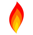 fire icon flame sign fire symbol from flame vector image