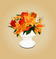 Flower bouquet in vase vector image