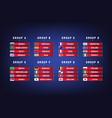 football world championship groups vector image
