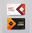 gift card template with polygonal bronze and gold vector image vector image