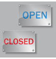 glass open and closed boards vector image