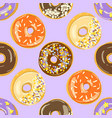 glazed donuts seamless pattern vector image vector image