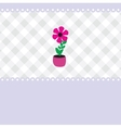 growing plant flower in pot vector image