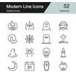 halloween icons modern line design set 52 vector image vector image