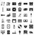 household icons set simple style vector image vector image