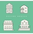 Houses set Isolated elements for design vector image vector image