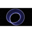 Infinite shining symbol limitless blue vector image vector image