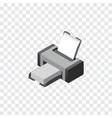 isolated printer isometric printing machine vector image