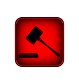 Judge gavel icon vector image vector image