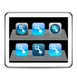 Key blue app icons vector image