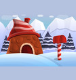 lapland concept background cartoon style vector image vector image