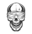 monochrome vintage skull vector image vector image