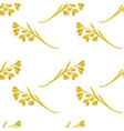 oat ears of grain seamless pattern on white vector image