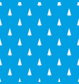origami fir tree pattern seamless blue vector image vector image