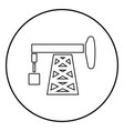 petroleum pump icon black color simple image vector image vector image
